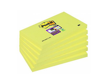 Bloczek samoprzylepny Post-it Super Sticky 76x127mm żółty (0021200531231)