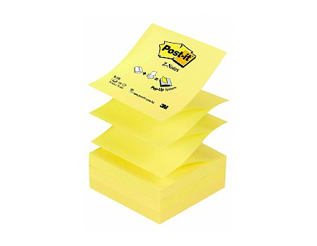 Bloczek samoprzylepny Post-it Z-Notes 76x76mm żółty (3134375014304)