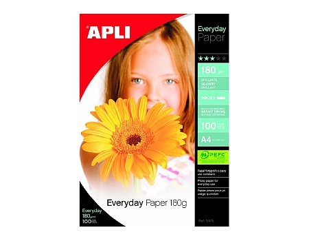 Papier fotograficzny APLI Foto Everyday Photo A4 180g/m2 100ark. (8410782114758)
